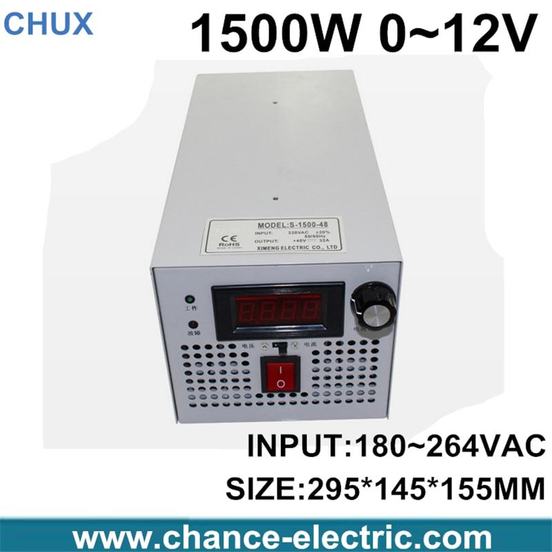 все цены на  LED Driver AC Input 220V to DC 1500W 0~12V 125A adjustable output Switching power supply Transformer for LED Strip light  онлайн