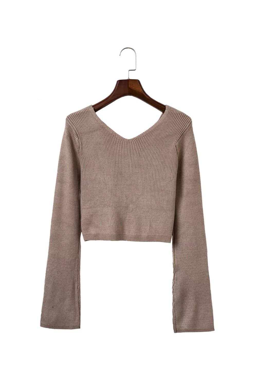 HTB1TSycOFXXXXa2XFXXq6xXFXXXL - Sweater Women Autumn Winter Flare Sleeve JKP084