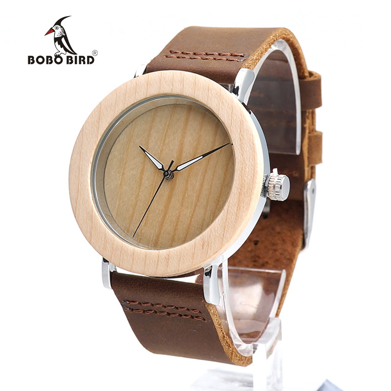 2017 BOBO BIRD New Brand Watches Women Wood Watch Genuine Leather Band Wristwatch as Gifts relogio feminino B-K22 bobo bird wc12 12holes brand design wood watches mens watch top luxury for women real leather straps as best gifts