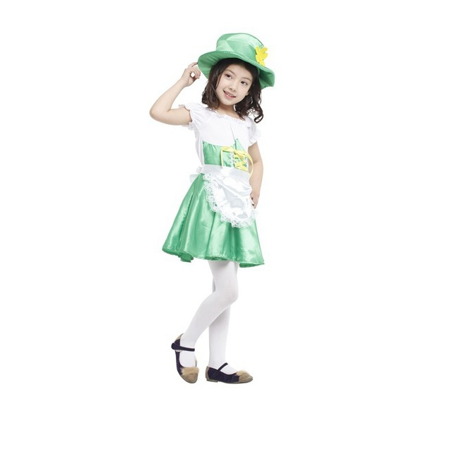 2016 Child Leprechaun Girl outfit Kids Halloween fantasia Fancy dress Ireland Fairy tale carnival dressing up  sc 1 st  AliExpress.com : kids costumes ireland  - Germanpascual.Com