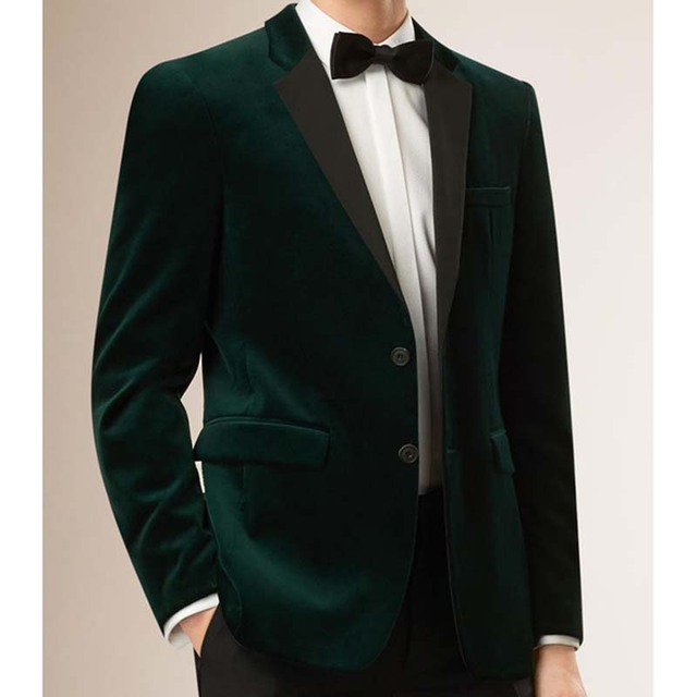 Complètement et trop extrême Velours pour hommes Blazers costumes Sur Mesure Slim Fit Velours @FO_82