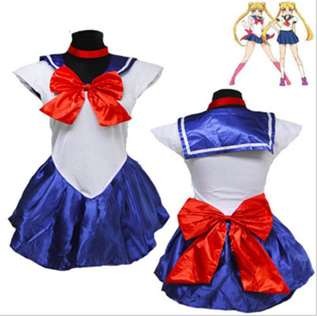 Athemis Anime Sailor Moon Minako Aino / Venus Cosplay Costume custom made Dress High Quality