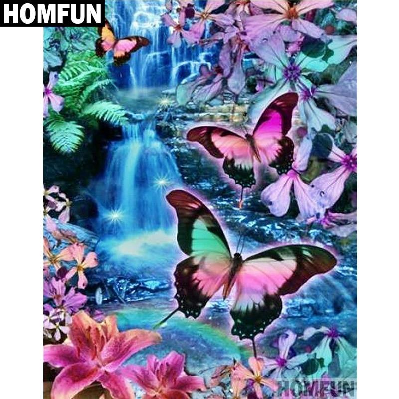HOMFUN 5D DIY Diamond Embroidery Full Display