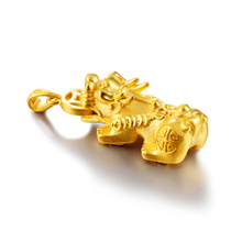 Fashion popular sand gold mens necklace money Brave Troops pendant copper 24k gold-plated jewelry accessories wholesale