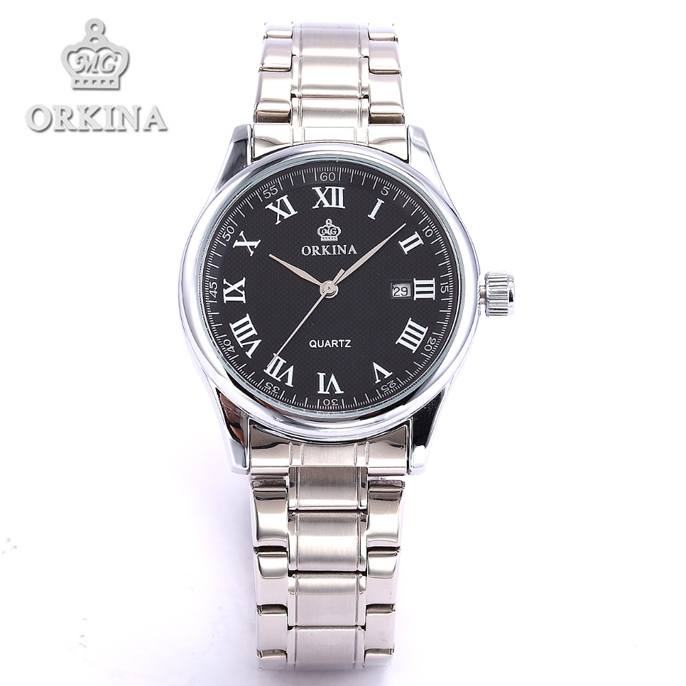 Orkina Relojes 2016 New Clock Men Luxury Elegant Date Display Band Wrist Watch Cool Horloges Mannen Watches Men orkina gold watch 2016 new elegant armbanduhr herrenuhr quarzuhr uhr cool horloges mannen gift box wrist watches for men