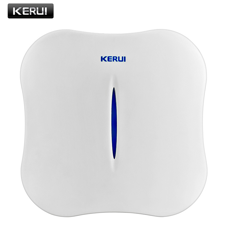 KERUI W1 Intelligent IOS Android App Control 433MHz Wireless Wifi PSTN Home Security Alarm System for house shop office store kerui black white intelligent wireless gms sms call home burglar intruder ios android app security alarm system touch keypad