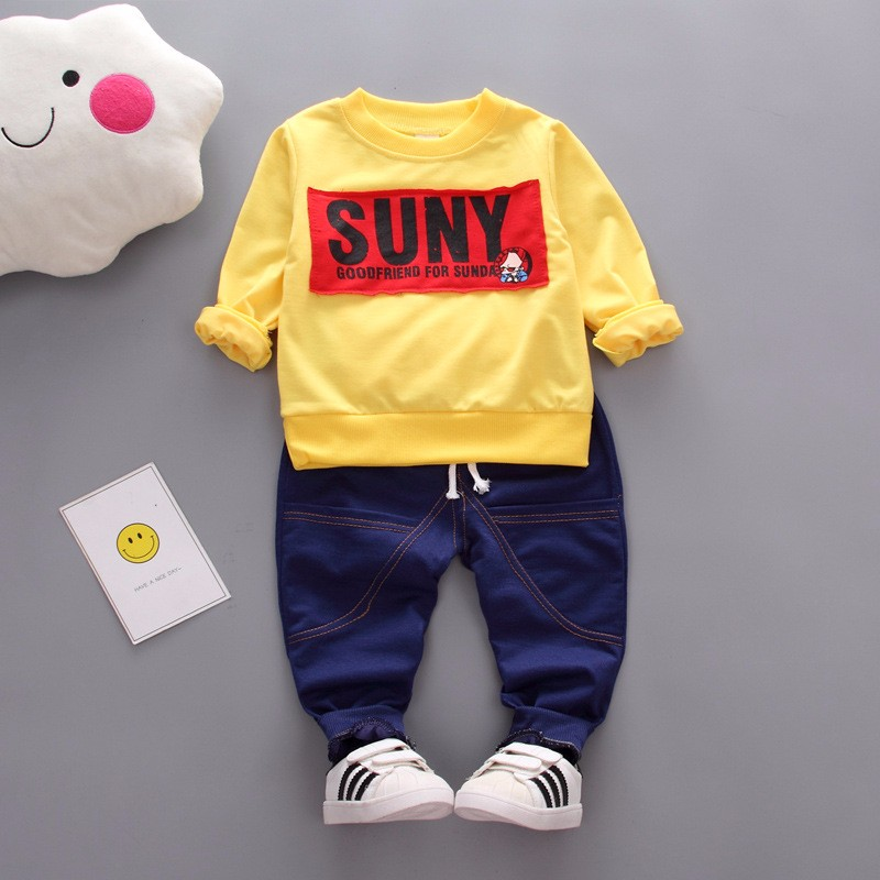 Kids Autumn Clothes Fashion Letter Printed Boys T-shirt Set Casual Children Clothing Girl Winter Clothes For Kids baby clothing children clothing set for boys letter t shirt plaid pants baby clothes boys fashion sports suits cotton casual kids clothes
