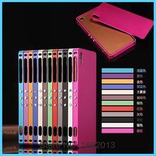 Для Sony Z3 Двойной Алюминиевого Сплава Рама С Задней Стороны Обложки Металла чехол Для Sony Xperia Z3 D6603 D6633 Металла Мобильного Телефона Обратно панели