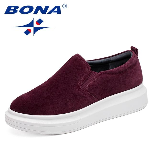 0c00bae28365 BONA Новое поступление, женская обувь для скейтбординга в классическом  стиле, женская обувь для