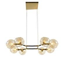 Nordic Post modern pendant lamp 8 arm lighting Fixture E14 holder foyer Bedroom Dining Living Room hanging LED light