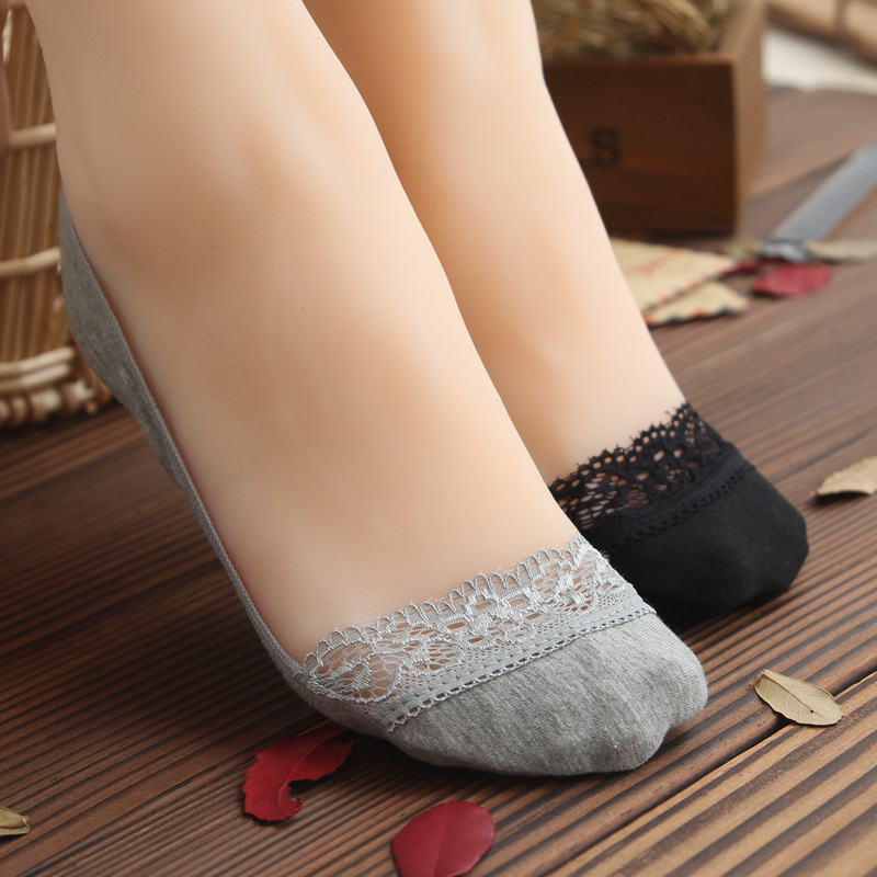 Invisible Short Woman Sweat Comfortable Cotton Bamboo  Girl Women's Boat Socks Ankle Low Female Invisible 1pair=2pcs Ws173