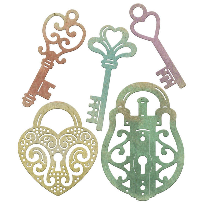 5pcs/Set Whimsical Locks and Keys Metal Cutting Dies Stencil for DIY Scrapbooking Photo Album Embossing Paper Cards Decor Crafts|lock and key|stencil for diymetal cutting dies stencils - AliExpress