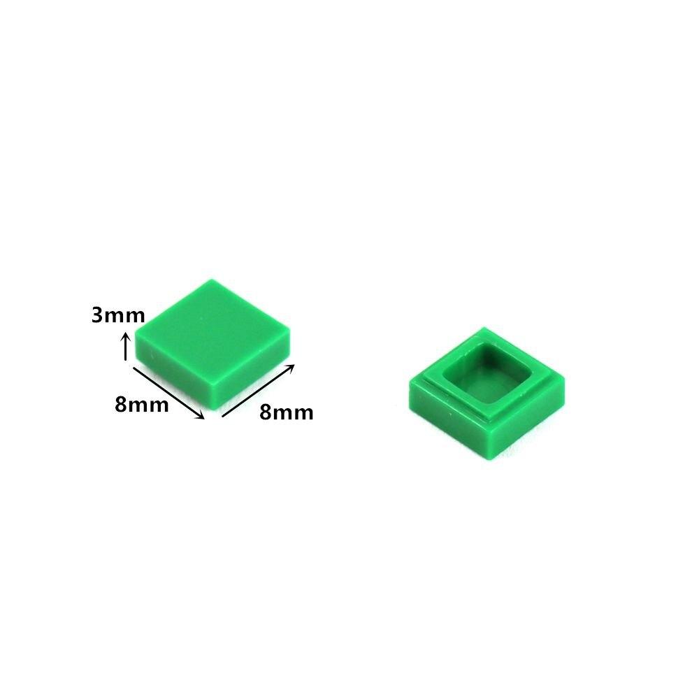 Image 3 - 2000 個フラットタイル 1 × 1 と溝 diy ビルディングブロック qr コードアクセサリーおもちゃスムーズ moc 車仕上げタイルレンガ部品 3070ブロック   -