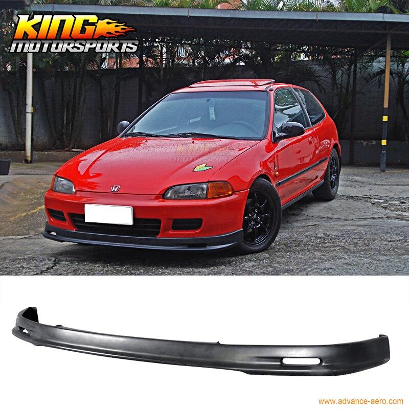 FITS 1992 1993 1994 1995 Honda Civic EG Mugen Style Front Bumper Lip Spoiler Bodykit