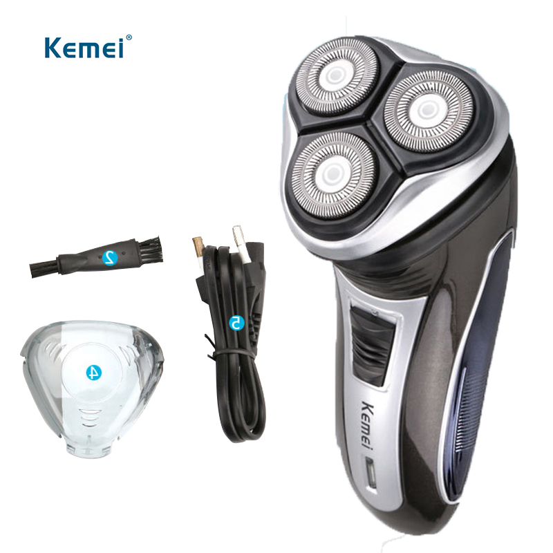 Kemei Rechargeable Electric hair trimmer safety razor Shaver