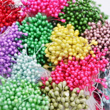 500pcs 3mm Artificial Mini Stamen Handmade Flowers For Christmas Scrapbook Accessories DIY Wedding Party Home Decor