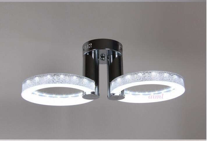 9W LED Ceiling Lights Acrylic with 2 lights (Chrome Finish) Silver Size:65*65*20cm 9w led ceiling lights acrylic with 2 lights chrome finish yellow