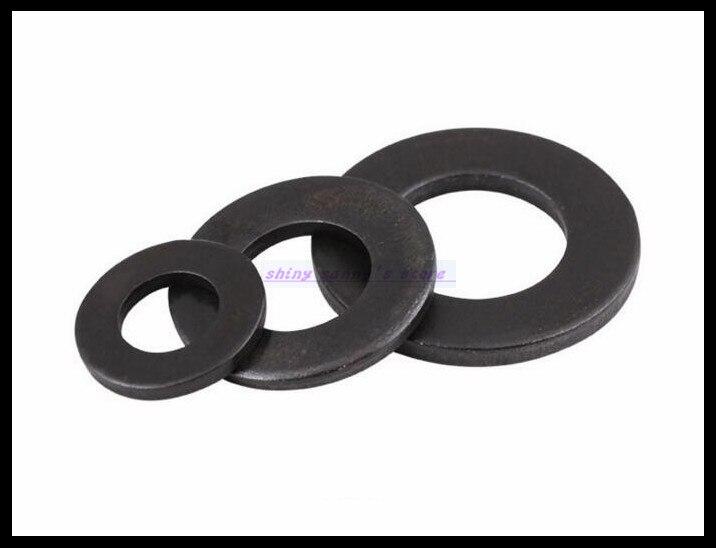 Grade 8.8 M2 M2.5 M3 M4 M5 M6 M8 M10 M12 Carbon Steel Black Flat Washer Plain Washer Ring Washer Gasket Brand New цены