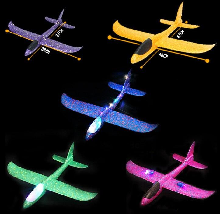 Dhl 200 Stücke Hand Werfen Fliegen Segelflugzeug Flugzeuge Schaum Flugzeug Modell Party Tasche Füllstoffe Fliegen Segelflugzeug Flugzeug Leucht Flugzeug Spielzeug Rheuma Lindern