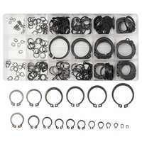 300Pcs 3-32mm Internal & External Snap Retaining Ring Circlip Washers C-Clip Repairs Assortment Set 18 Sizes With Box New