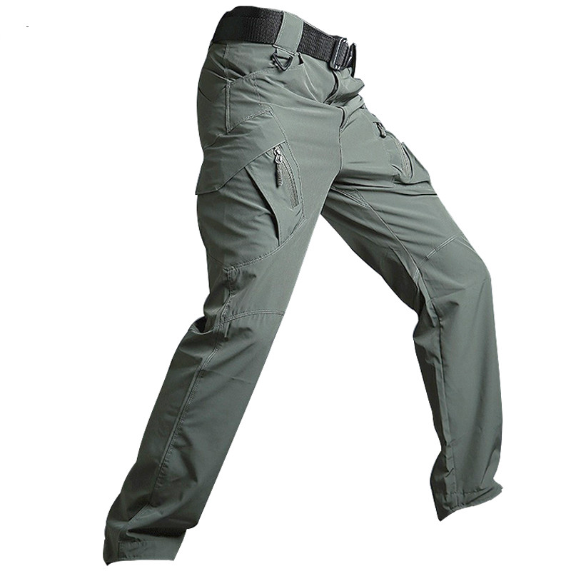 Outdoor Summer Lightweight Urban Tactical Cargo Pants Men Sport Quick Drying Breathable Stretch Army Military Hiking Pants