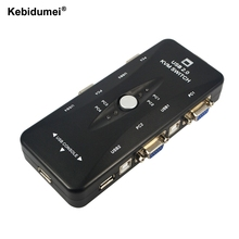 Switch-Box Adapter Connector Keyboard Printer Computers-Use 1-Monitor 4-Port Hub VGA