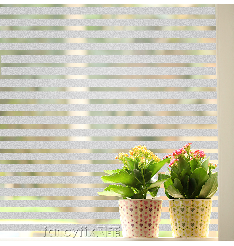 Pure scrub thin Line film window stickers bathroom without glue Vinyl semi transparent decals explosion-proof grilles paper the window office paper sticker pervious to light do not transparent bathroom window shading white frosted glass tint