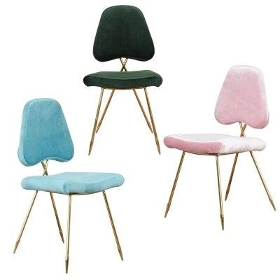 Скандинавский современный минималистский ресторане стул современный туалетный стул Золот ...