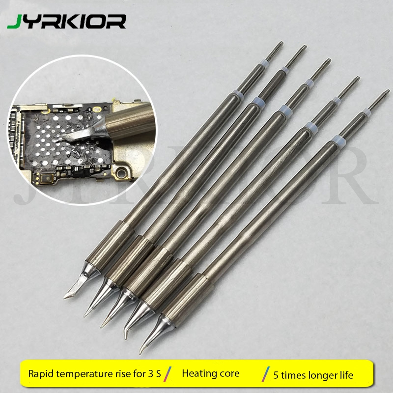 Jyrkior Original Electric Soldering Iron Welding Tips For T12-11 Digital Lead Free Soldering Station Replaceement Welding Nozzle
