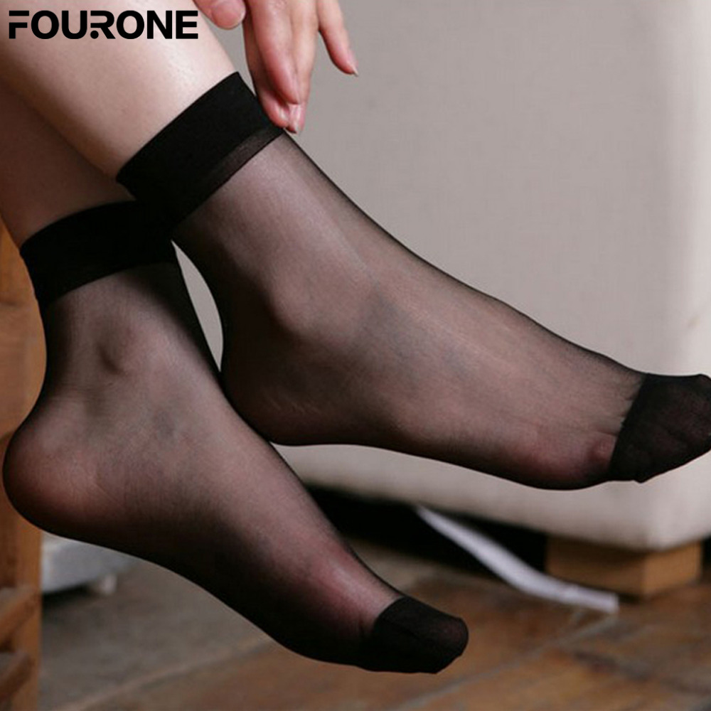 Women's Short   Socks   Ankle   Socks   10 Pair Ultra-thin Transparent