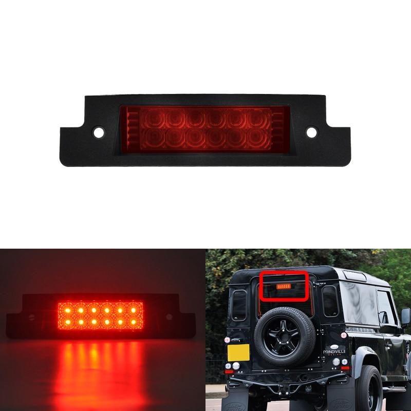 Convient directement pour Land Rover Defender 90/110/XS 1997-2006 brillant rouge à montage élevé arrière Led troisième feu stop