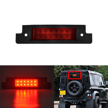 Direct Fits For Land Rover Defender 90/110/XS 1997-2006 Brilliant Red High-Mount Rear Led Third Brake Stop Tail Light Lamp