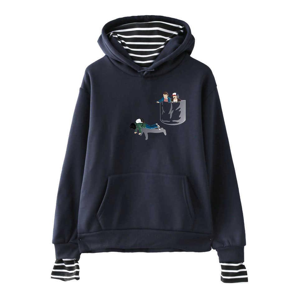 Странные Вещи SHEIN Harajuku поддельные 2 шт. толстовки Толстовка популярная kpop улица крутая Повседневная Хип Хоп базовая одежда хипстера