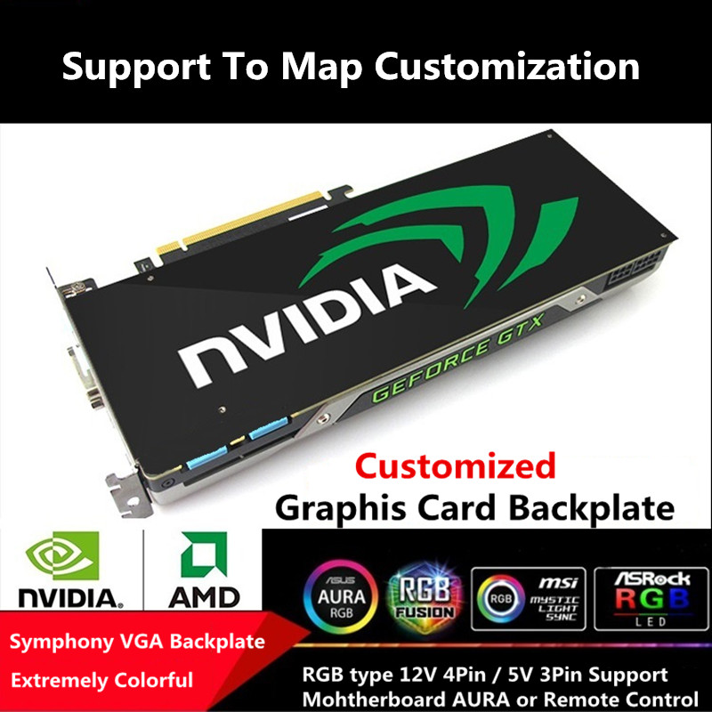 Custom Made RGB AURA Symphony Graphics Card Backplate Colorful 5V 3Pin 12V 4Pin RGB Chassis Personal