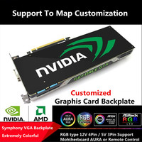 Custom Made RGB AURA Symphony Graphics Card Backplate Colorful/5V 3Pin/12V 4Pin RGB Chassis Personal Belief Light Board