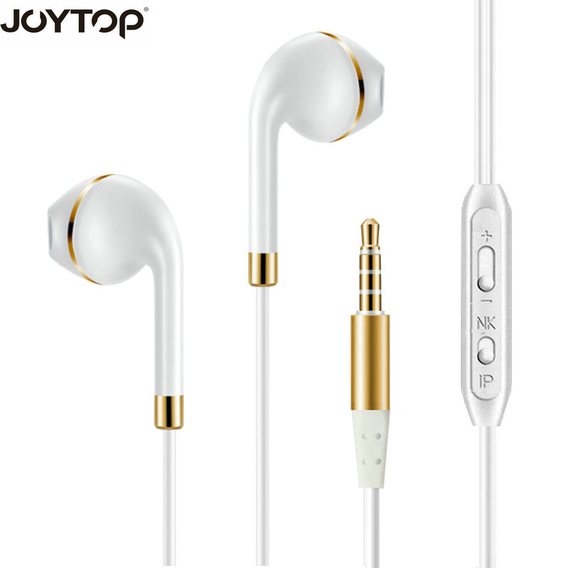 JOYTOP Earphone In-ear Headphone Stereo Bass Headset with Microphone 3.5mm Music fone de ouvido gaming headsets sport headphone
