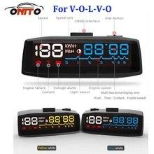 Авто HUD Освещение Универсальная автомобильная HUD Head Up отображает OBD2 евро OBD выход для XC90 XC70 XC60 V40 V50 V60 v70 V90 S40 S50 S60 S70