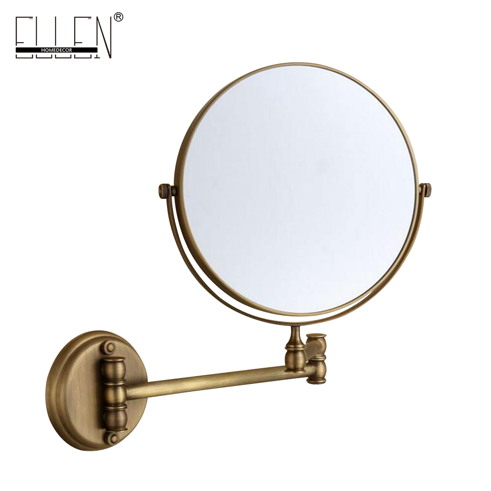 Bathroom Accessories Makeup Mirror Bath Mirror Antique Bronze Wall Mounted Magnifier Bathroom Mirrors Bathroom Hardware-80290