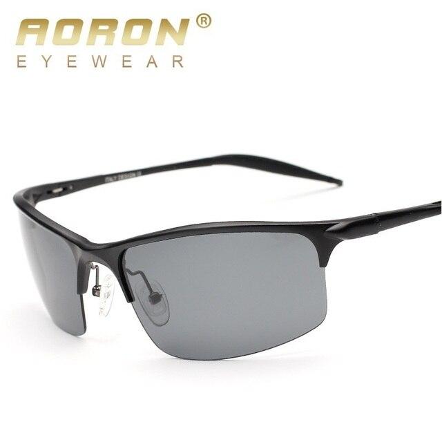 643faba3cf AORON Men's Al-Mg Aluminium Polarized Sunglasses Frame Mirror Driving  Goggles Sun Glasses Eyewear Oculos de sol