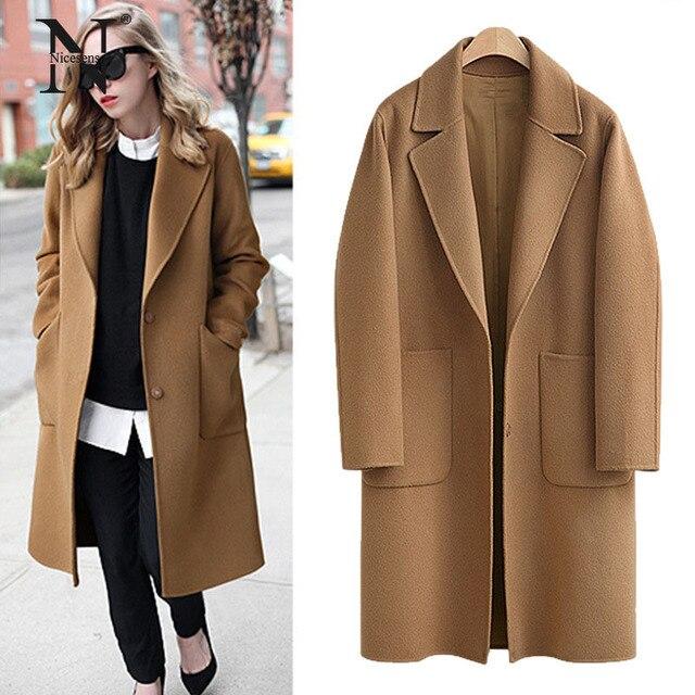 9d1e97e9ecac Casaco de inverno mulheres sobretudo NicesensE abrigos mujer invierno 2017  manteau poncho casaco feminino fêmea sobretudo