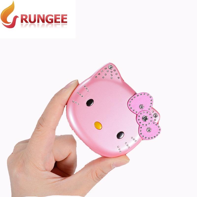 unlocked Original Rungee KUH K688 Phone mini Flip lovely small women kids girls moblie diamond hellokitty cute cell cellphone MINI