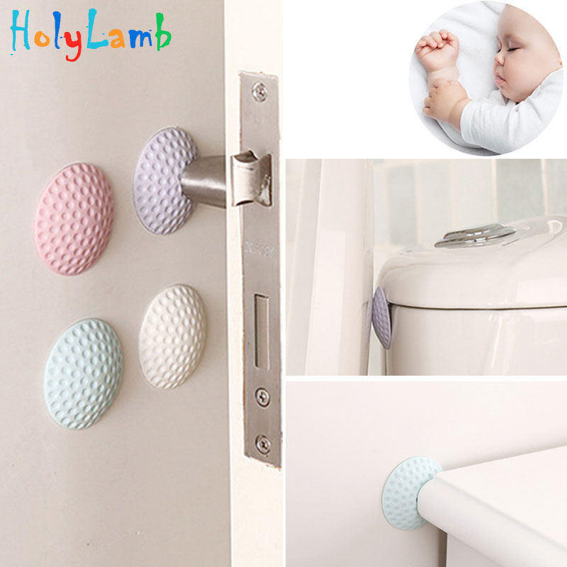 4Pcs/Lot Random Color Protection Baby Safety Shock Absorbers Security Card Door Stopper Child Lock Protection From Children