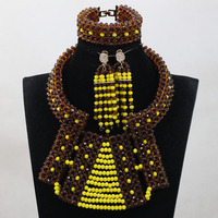 New African Beads Rare Costume Jewelry Necklace Sets Handmade Design Wholesale HEB043