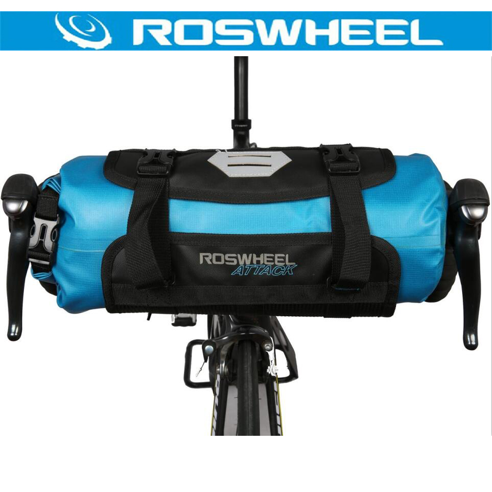 ROSWHEEL 2017 7l 100% Полный Водонепроницаемый Велосипедный Спорт сумка велосипед Руль управления для мотоциклов спереди мешок MTB дорожный Велоспор...