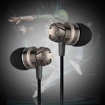 High quality 3.5mm Jack Noise Isolation Headphone In-ear Earphone for MP3MP4 Players With mic bass metal headset for iosxiaomi