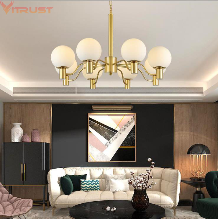 цена Modern Chandeliers Lighting Fixture Home Deco Living room Bedroom Dining Hotel lustre Chandelier Light Fixtures Lamps Gold Black