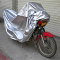 Universal Silver XL Motorcycle Cover Outdoor Weatheproof Rain Dust Protector For Motorbike Outdoor Touring Scooter