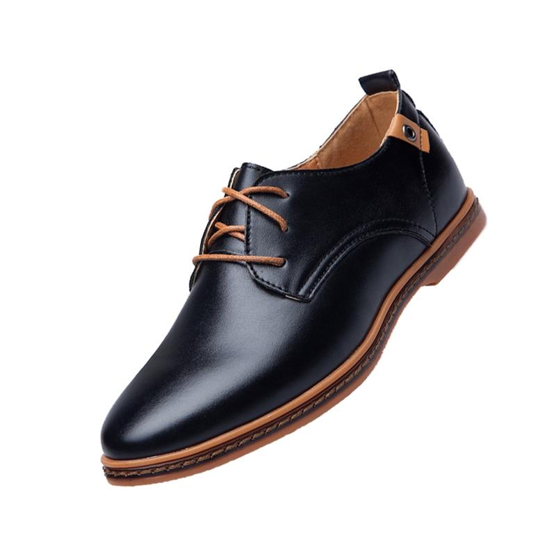 Mens England Business shoes Leisure faux leather shoes man Black