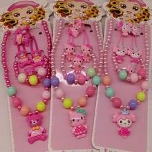 dd4d75250 Fashion Children Headwear 5PCS/set t Hello Kitty Hair Clip Gum Elastic  Bands Hair Accessories