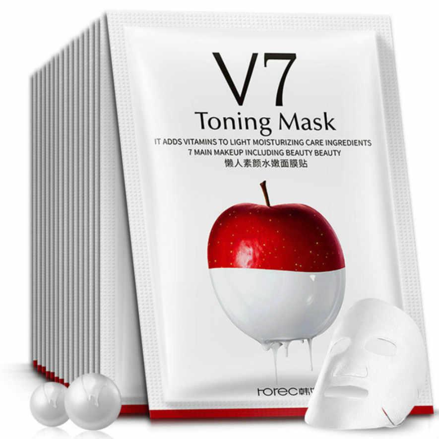 2019 nouvelle pomme Essence paresseux hydratant masque soins de la peau plante masque Facial hydratant huile contrôle points noirs masque soins du visage tRI1